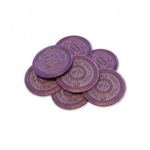 Monedas metálicas 50$ para Scythe - 7 monedas