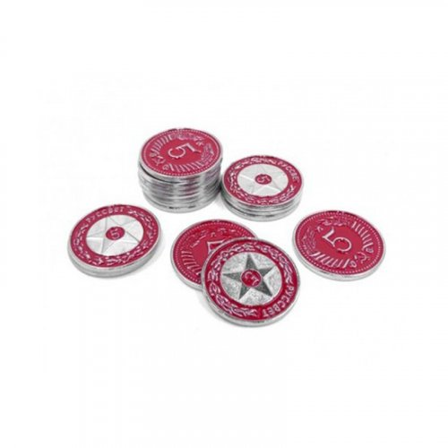 Metallic coins promo red 5$...