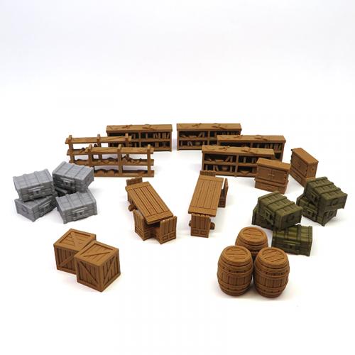 Pack de Mobiliario para Gloomhaven - 25 piezas