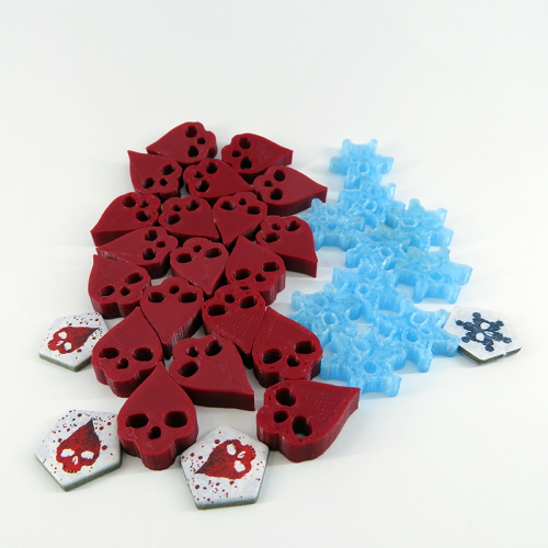 Wound & frostbite tokens for Dead of Winter - 30 pieces