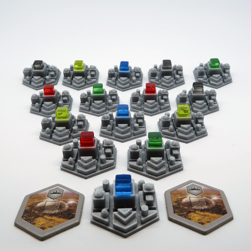 City Tiles for Terraforming Mars - 15 pieces