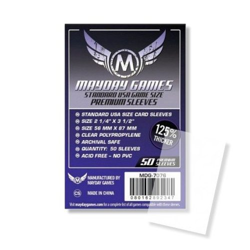56x87 mm - 50 Standard USA Premium Card Sleeves