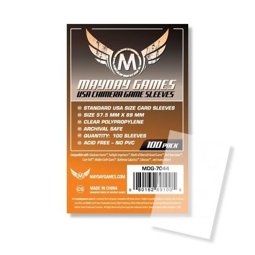 57.5X89 mm - 100 Standard USA Chimera Card Sleeves