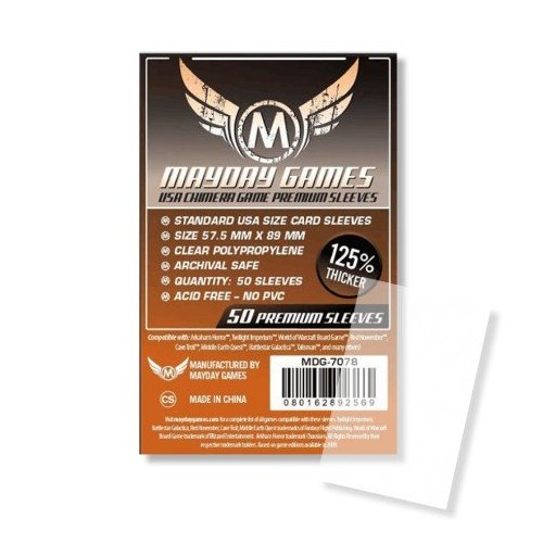 57.5X89 mm - 50 Standard USA Chimera Premium Card Sleeves