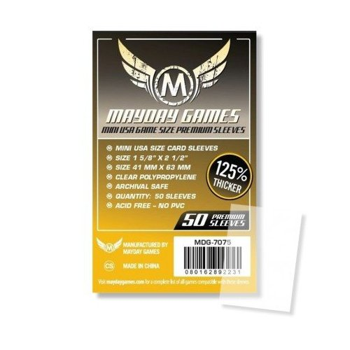 41x63 mm - 50 Mini USA Card Sleeves