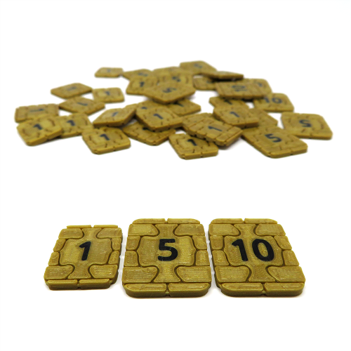 Credit Tokens for Underwater Cities - 35 Pieces