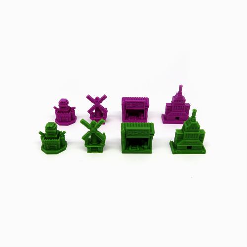 Pack de Edificios con 2 Facciones para Invasores de Tierras Lejanas - Scythe - 8 piezas