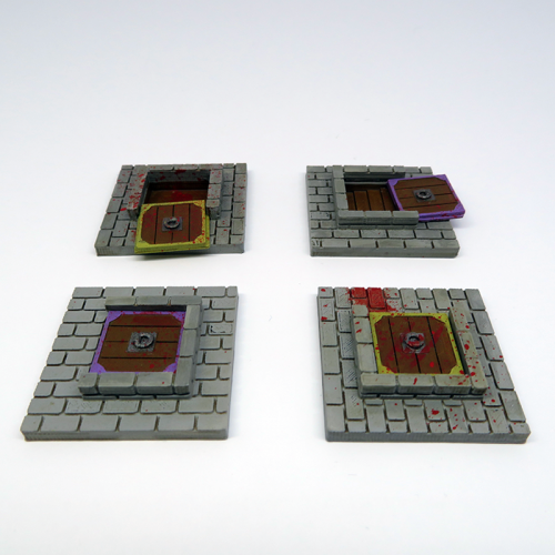 Vault door tiles for Zombicide Black Plague - 4 pieces