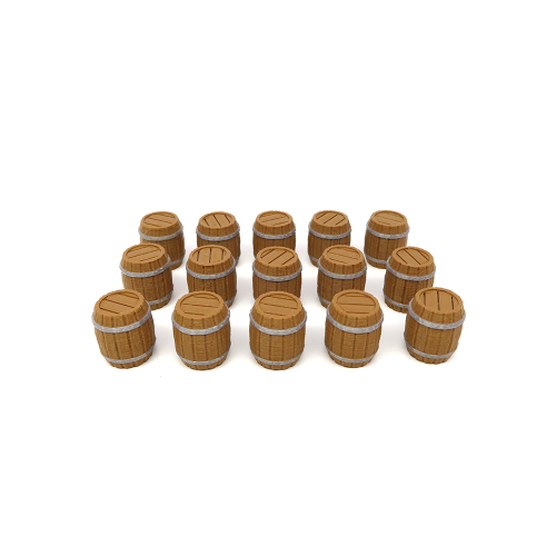 Beer Barrel Tokens for Brass - 15 pieces
