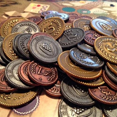 Monedas metálicas para Viticulture - 72 monedas