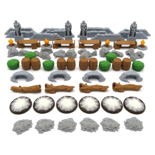 Full Scenery Pack for Journeys in Middle Earth (LOTR) - 62 Pieces
