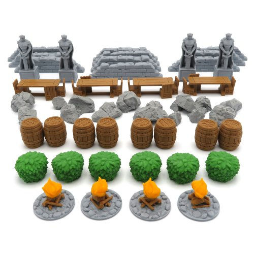 Terrain Tokens for Journeys in Middle Earth (LOTR) - 42 Pieces