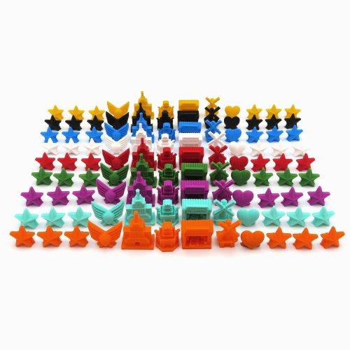 Pack de Tokens de 9 Facciones para Scythe - 108 piezas