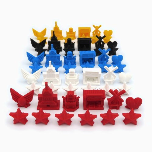 5 Faction Token Set for Scythe - 60 pieces