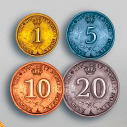 Metal Coins for Rococo Deluxe Edition - 50 Pieces