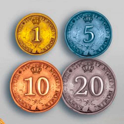 Monedas Metálicas para Rococó Deluxe Edition - 50 piezas