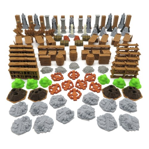 Full Scenery Pack for Jaws of the Lion - Gloomhaven - 114 Pieces