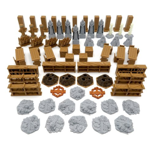 Scenery Update Pack for Gloomhaven to Jaws of the Lion - 69 Pieces