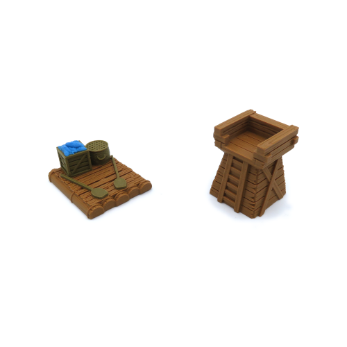 Ferry & Tower Tokens for Root - 2 Pieces