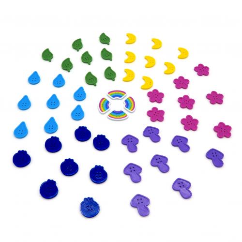 Button Tokens for Calico - 52 Pieces