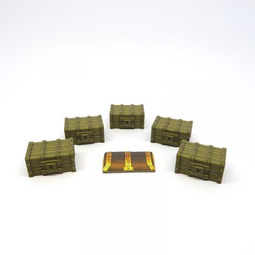 Cofres de Tesoro Objetivo para Gloomhaven - 5 Piezas