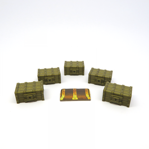 Goal Treasure Chests for Gloomhaven - 5 pieces