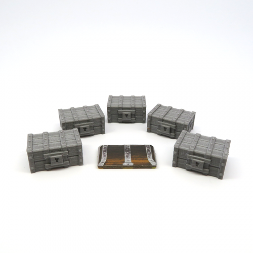Numbered Treasure Chests for Gloomhaven - 5 pieces