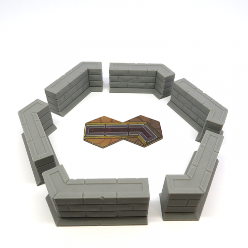 Wall Sections for Gloomhaven - 6 pieces