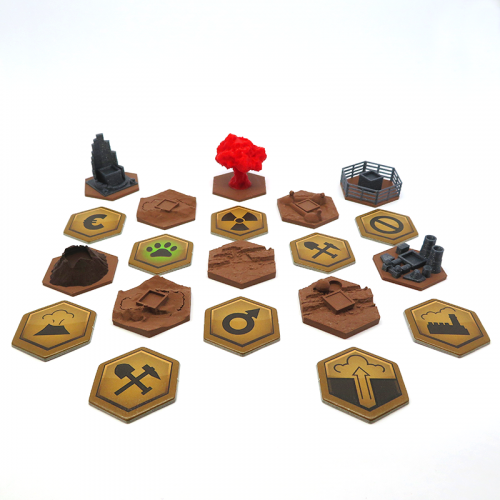 Brown Special Tiles for Terraforming Mars - 10 pieces