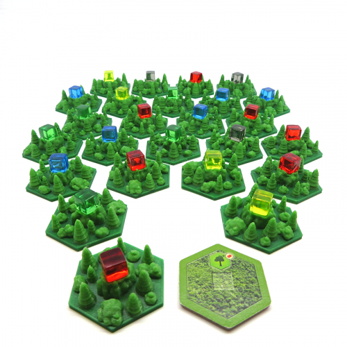 Forest Tiles for Terraforming Mars - 25 pieces