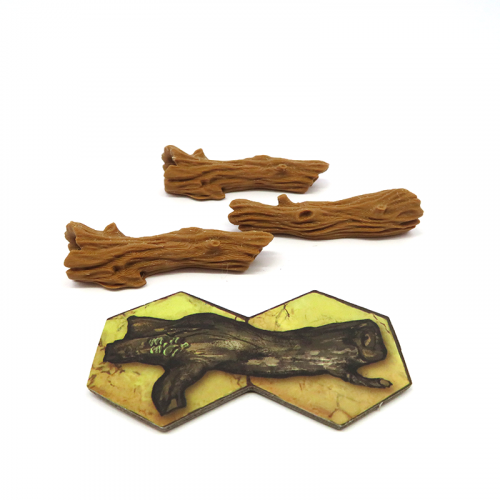 Wood Logs for Gloomhaven - 3 pieces