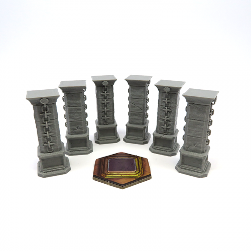 Stone Pillars for Gloomhaven - 6 pieces