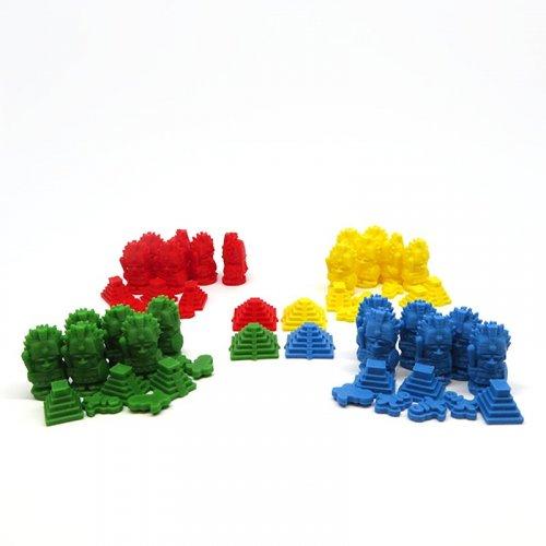 Pack de 4 Jugadores para Tzolk'in / Tzolkin - 56 Piezas