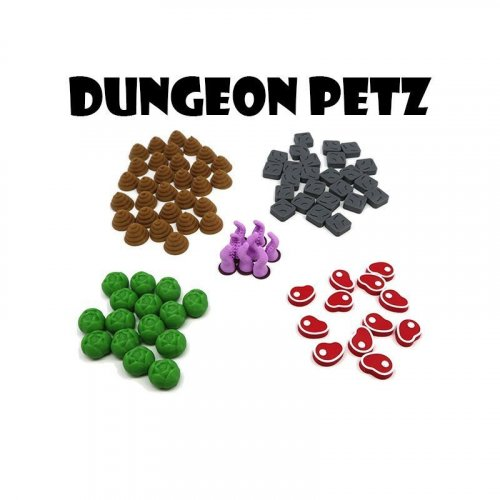 Plastic tokens (90 pieces)...