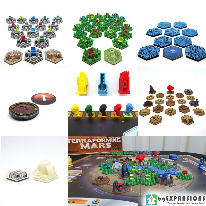 3D TILES for TERRAFORMING MARS 3D PRINTED Board Game DELUXE EXCLUSIVE