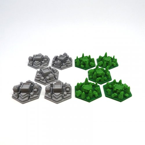 Extra Forest & City Tiles for Terraforming Mars - 10 pieces